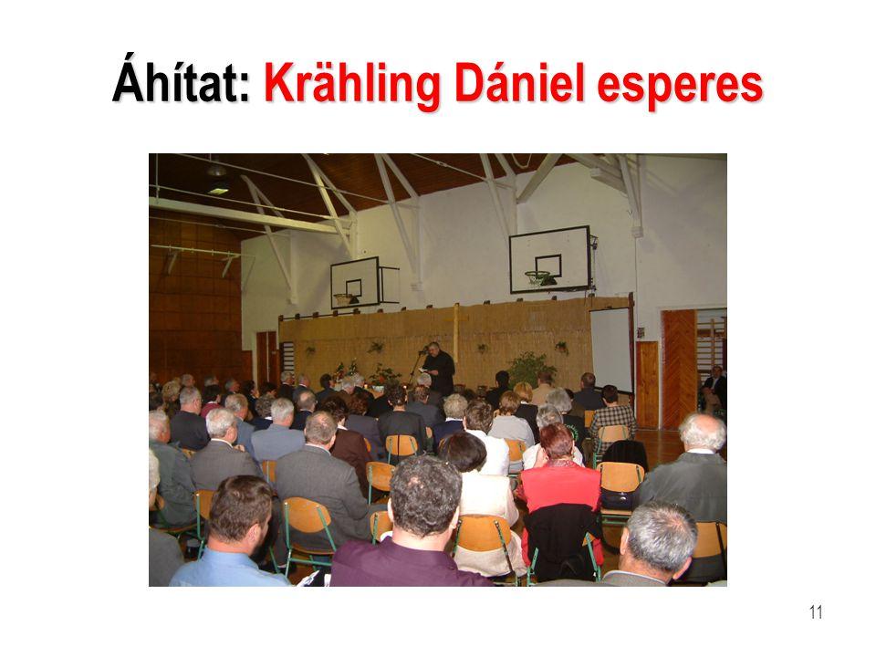 Áhítat: Krähling Dániel esperes