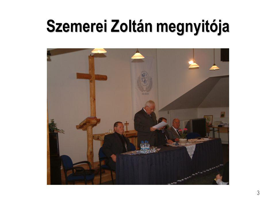 Szemerei Zoltán megnyitója
