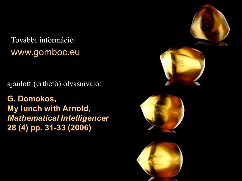 www.gomboc.eu További információ: ajánlott (érthető) olvasnivaló: