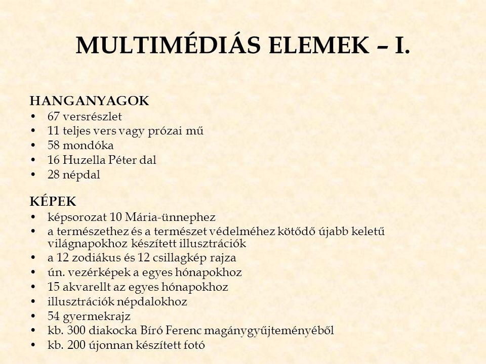 MULTIMÉDIÁS ELEMEK – I. HANGANYAGOK KÉPEK 67 versrészlet