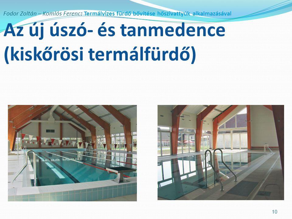 Fodor Zoltán – Komlós Ferenc: Termálvizes fürdő bővítése hőszivattyúk alkalmazásával Az új úszó- és tanmedence (kiskőrösi termálfürdő)