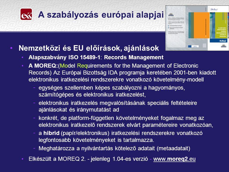A szabályozás európai alapjai