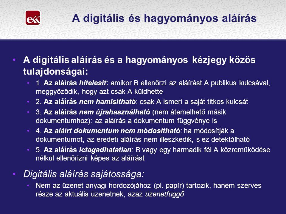 A digitális és hagyományos aláírás