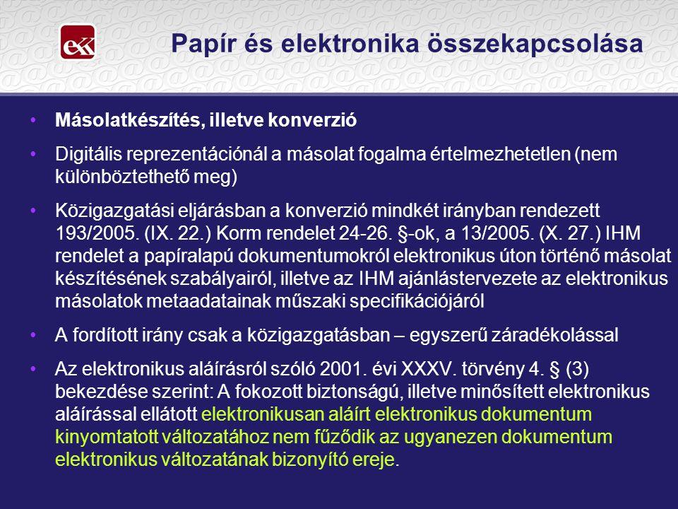 Papír és elektronika összekapcsolása
