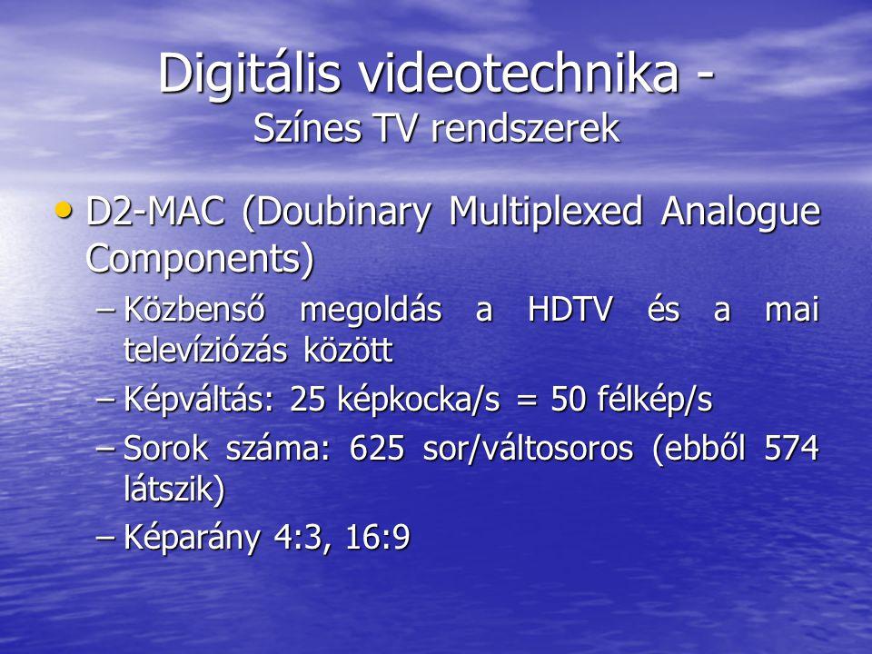 Digitális videotechnika - Színes TV rendszerek