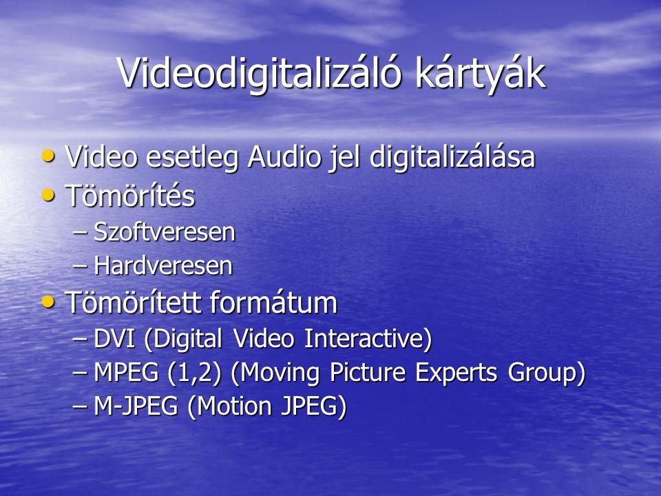 Videodigitalizáló kártyák