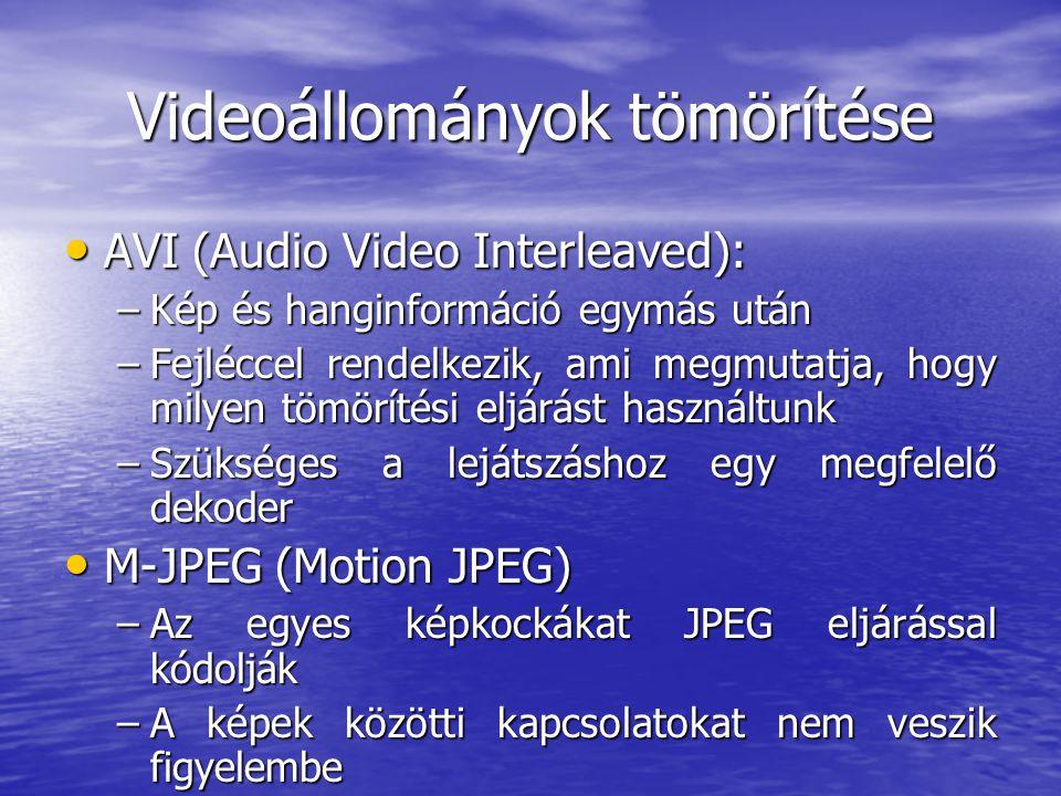 Videoállományok tömörítése