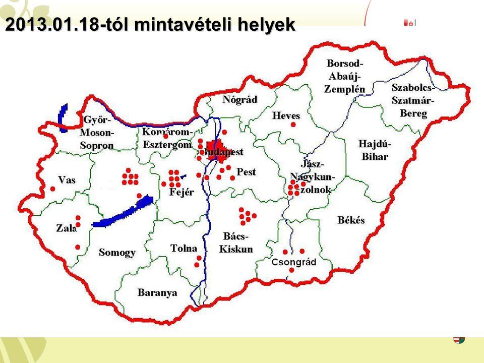 2013.01.18-tól mintavételi helyek