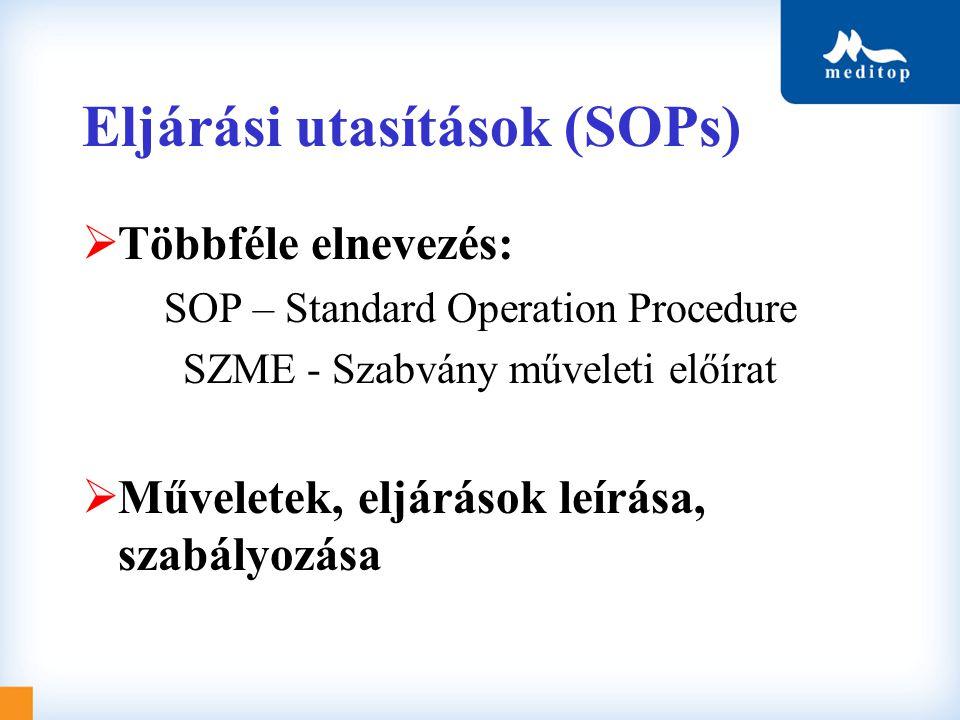 Eljárási utasítások (SOPs)