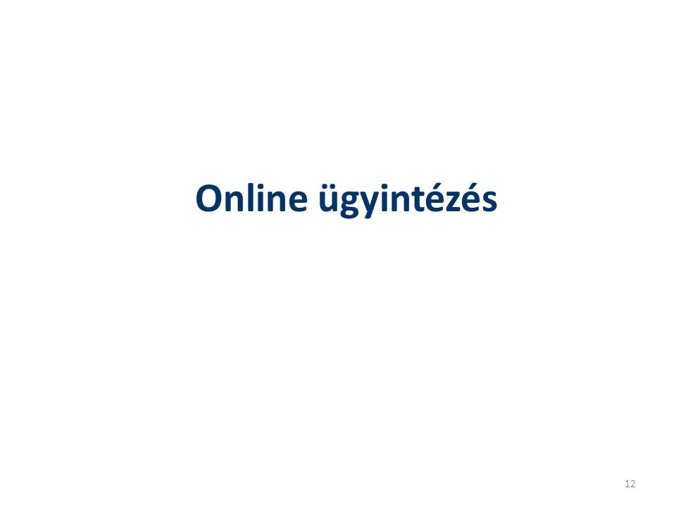 Online ügyintézés