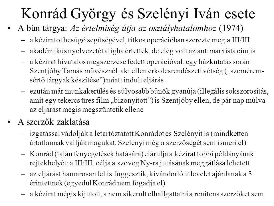 Konrád György és Szelényi Iván esete