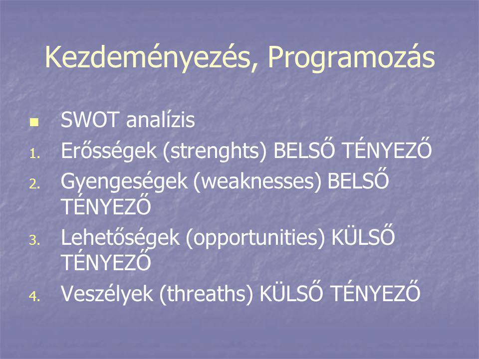 Kezdeményezés, Programozás