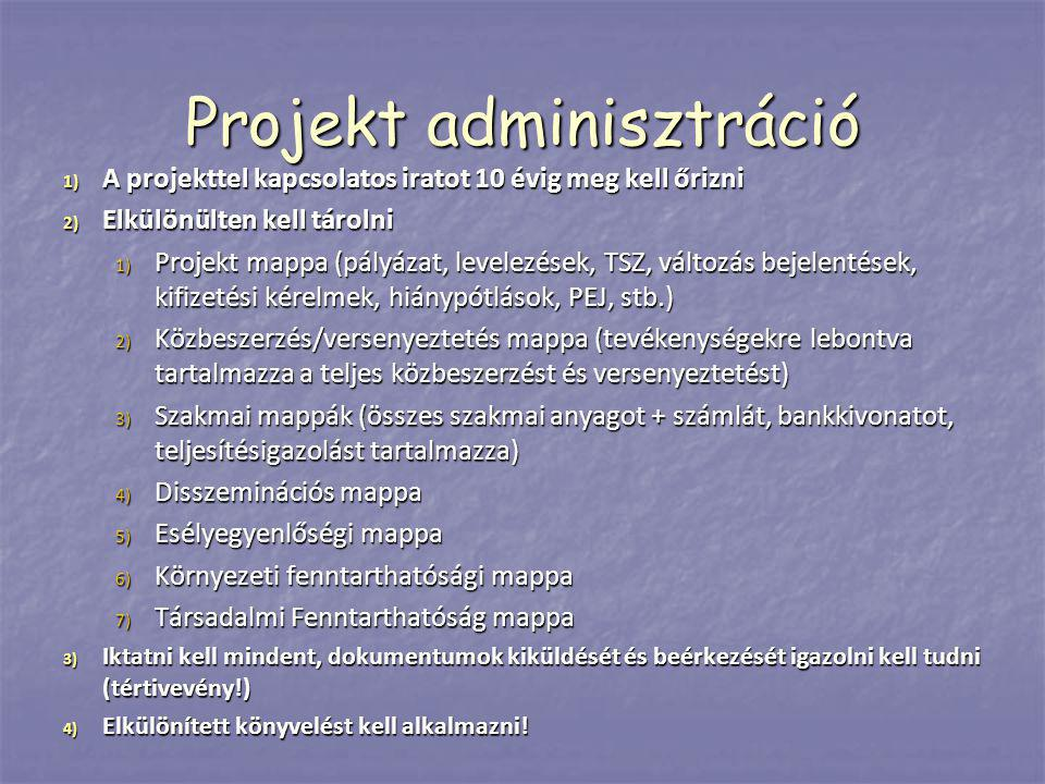 Projekt adminisztráció