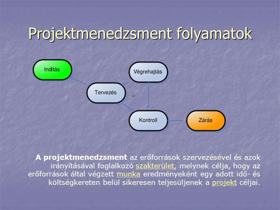 Projektmenedzsment folyamatok
