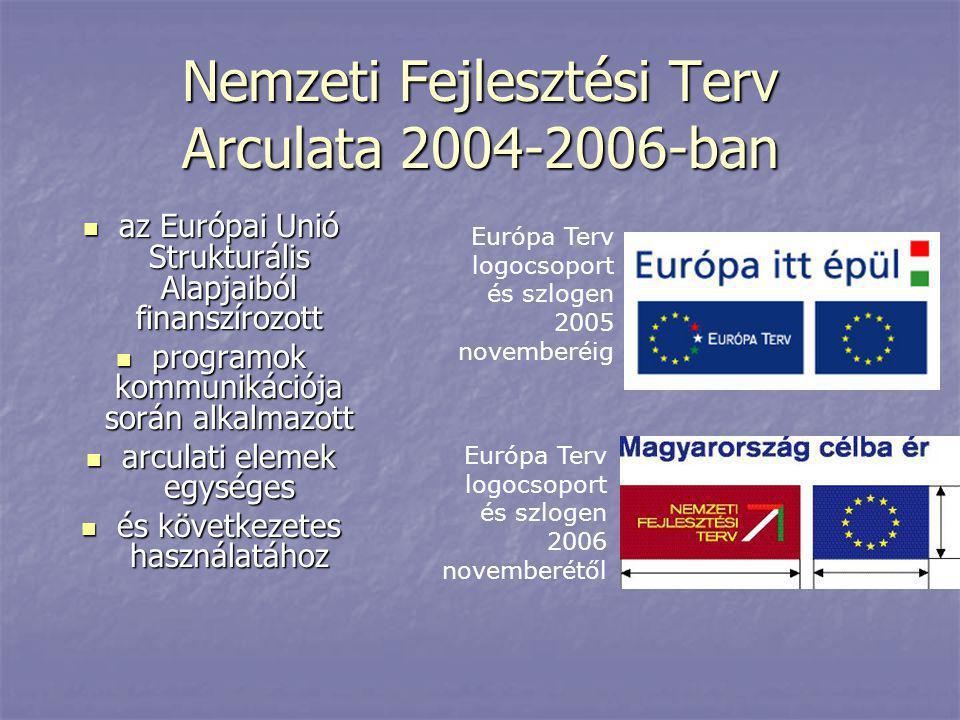 Nemzeti Fejlesztési Terv Arculata 2004-2006-ban