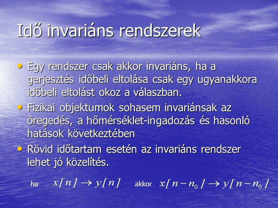 Idő invariáns rendszerek