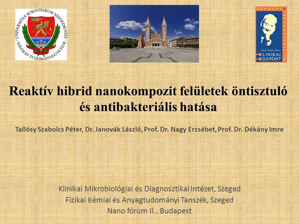 Reaktív hibrid nanokompozit felületek öntisztuló és antibakteriális hatása