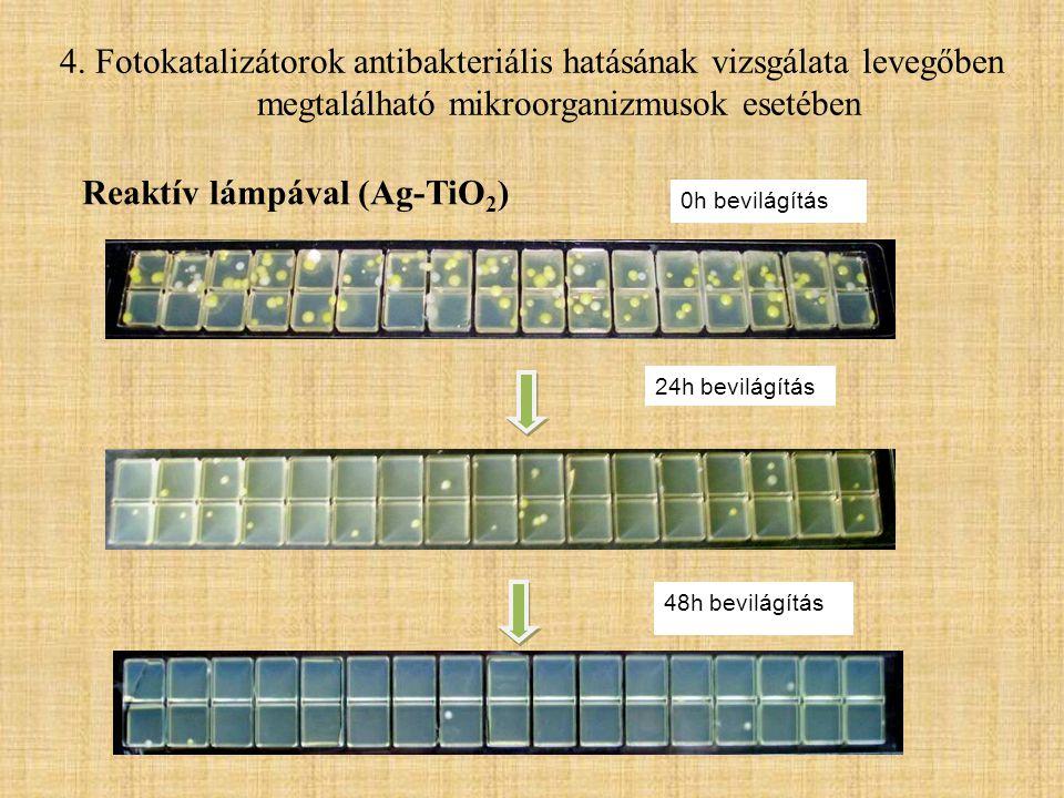 Reaktív lámpával (Ag-TiO2)