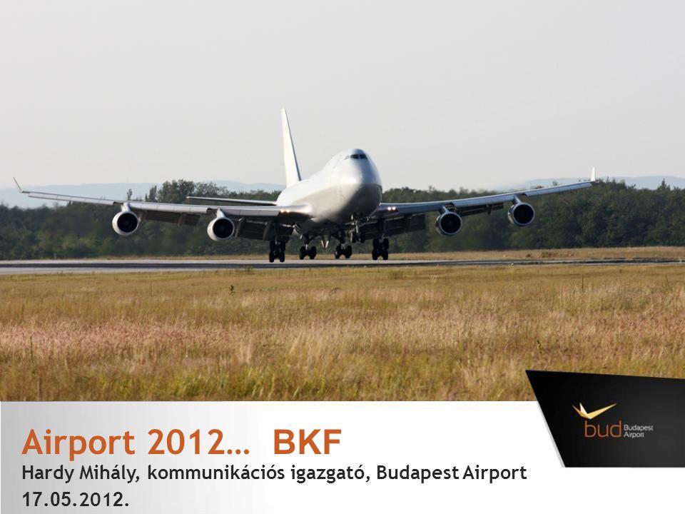 Airport 2012… BKF Hardy Mihály, kommunikációs igazgató, Budapest Airport 17.05.2012.