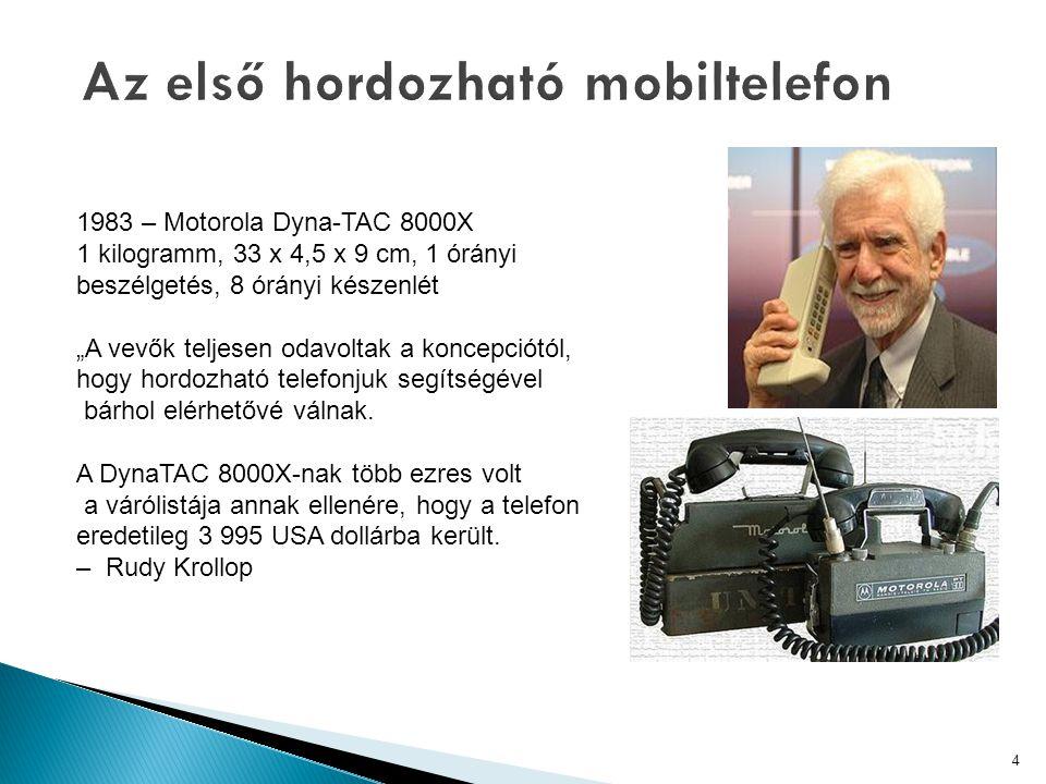 Az első hordozható mobiltelefon