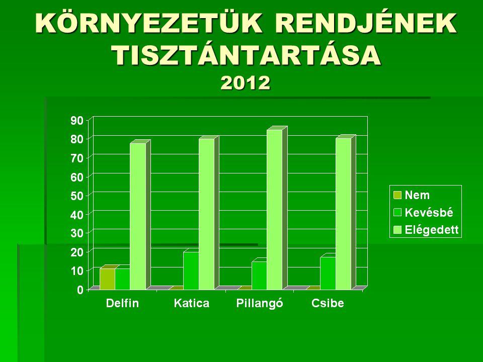 KÖRNYEZETÜK RENDJÉNEK TISZTÁNTARTÁSA 2012