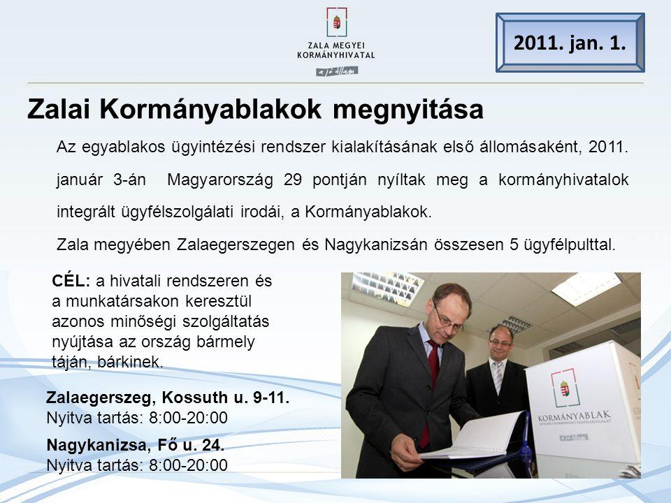 Zalai Kormányablakok megnyitása