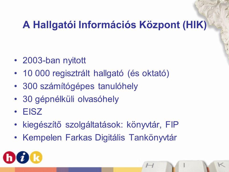 A Hallgatói Információs Központ (HIK)