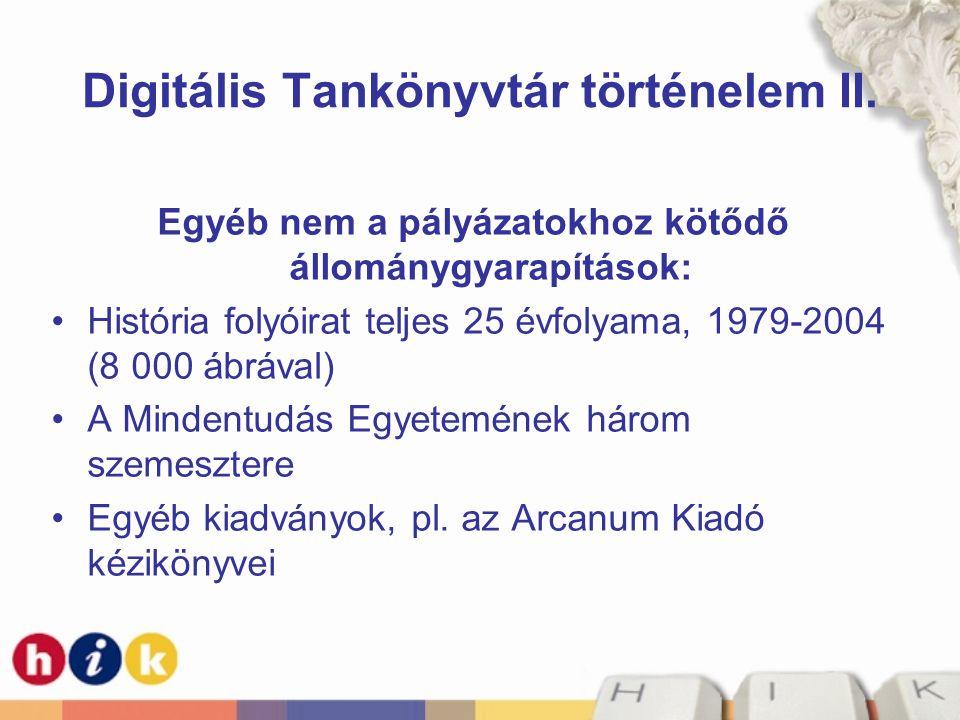 Digitális Tankönyvtár történelem II.