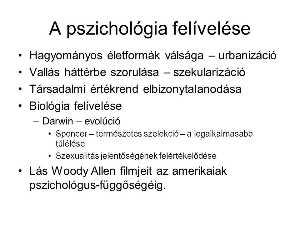 A pszichológia felívelése