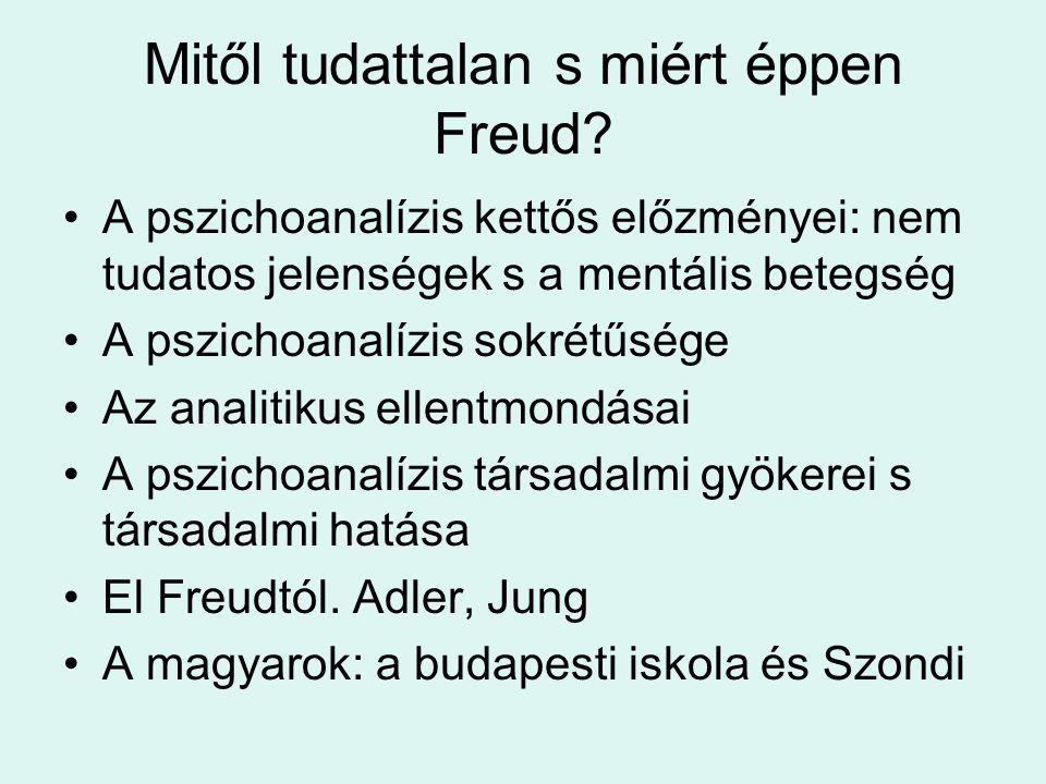 Mitől tudattalan s miért éppen Freud