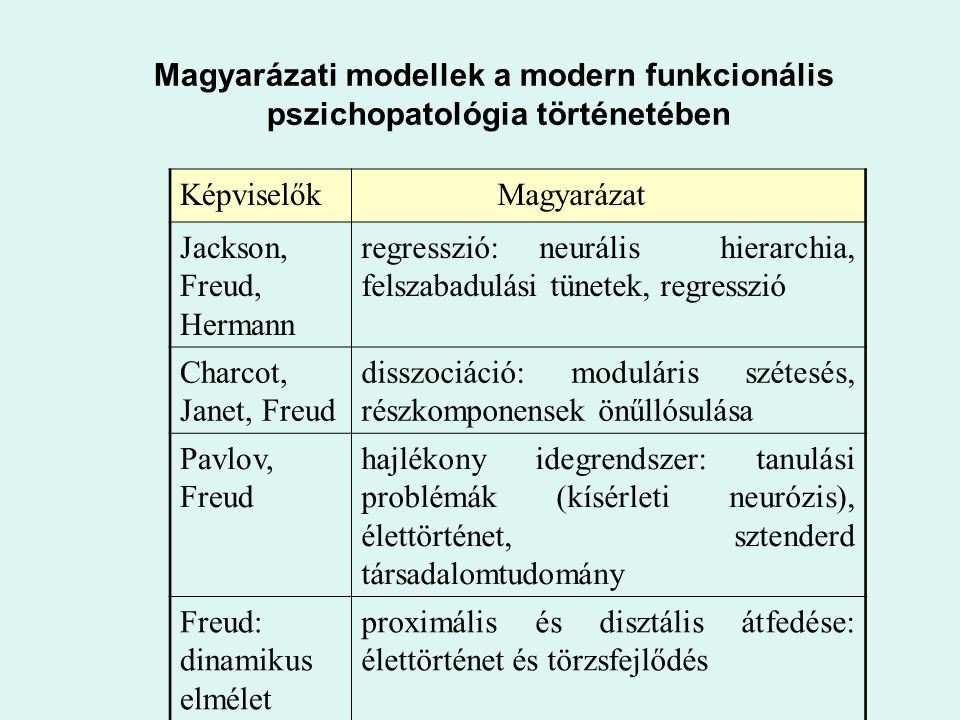 Magyarázati modellek a modern funkcionális
