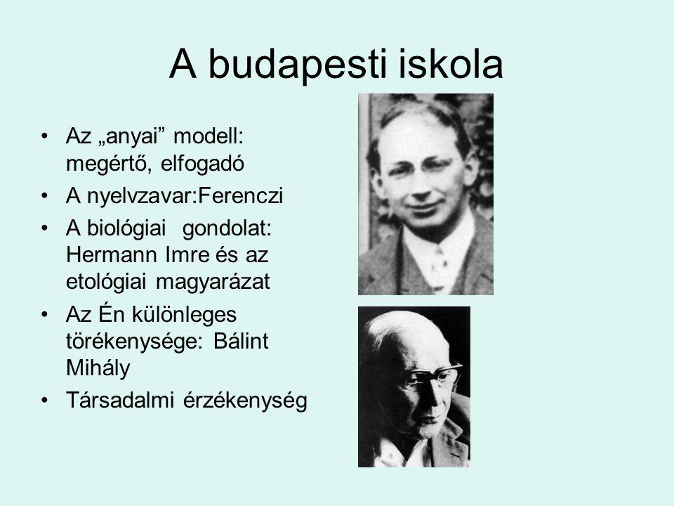 """A budapesti iskola Az """"anyai modell: megértő, elfogadó"""
