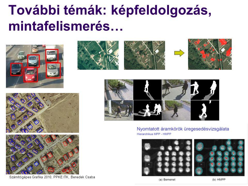 További témák: képfeldolgozás, mintafelismerés…