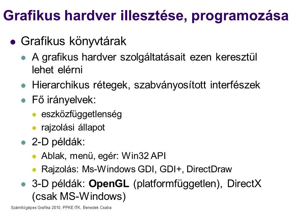 Grafikus hardver illesztése, programozása