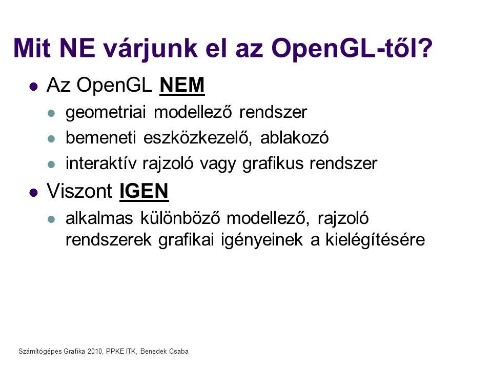 Mit NE várjunk el az OpenGL-től