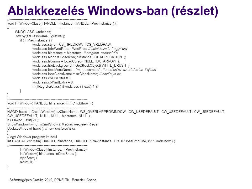 Ablakkezelés Windows-ban (részlet)