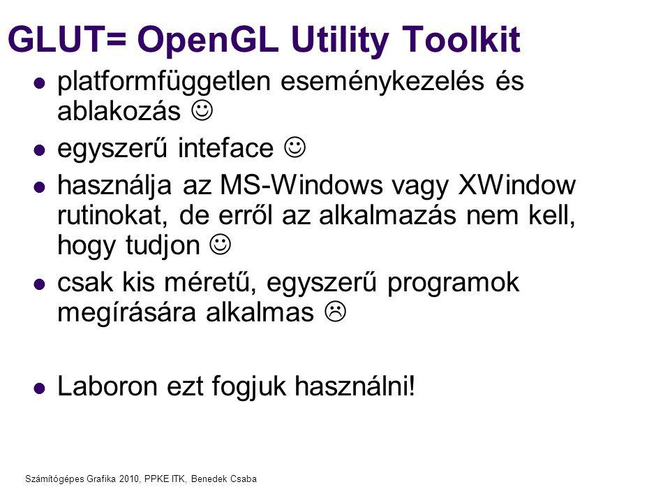 GLUT= OpenGL Utility Toolkit