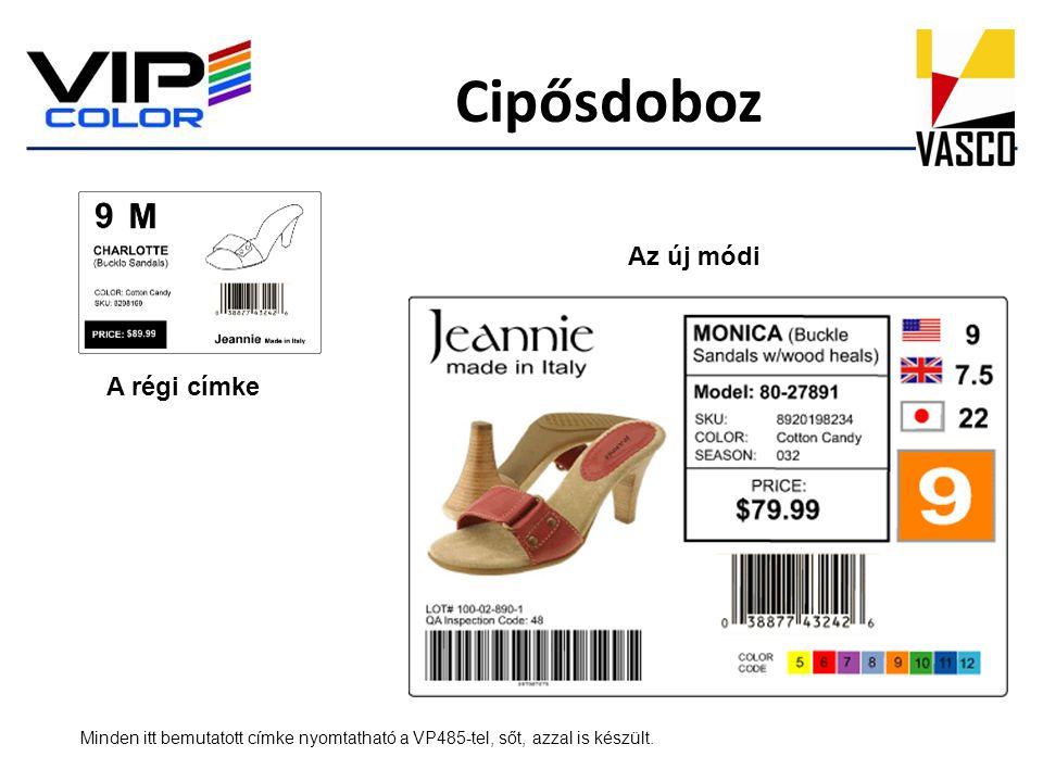 Cipősdoboz Original Az új módi A régi címke