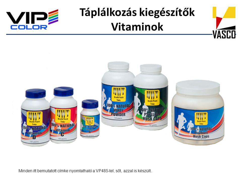 Táplálkozás kiegészítők Vitaminok
