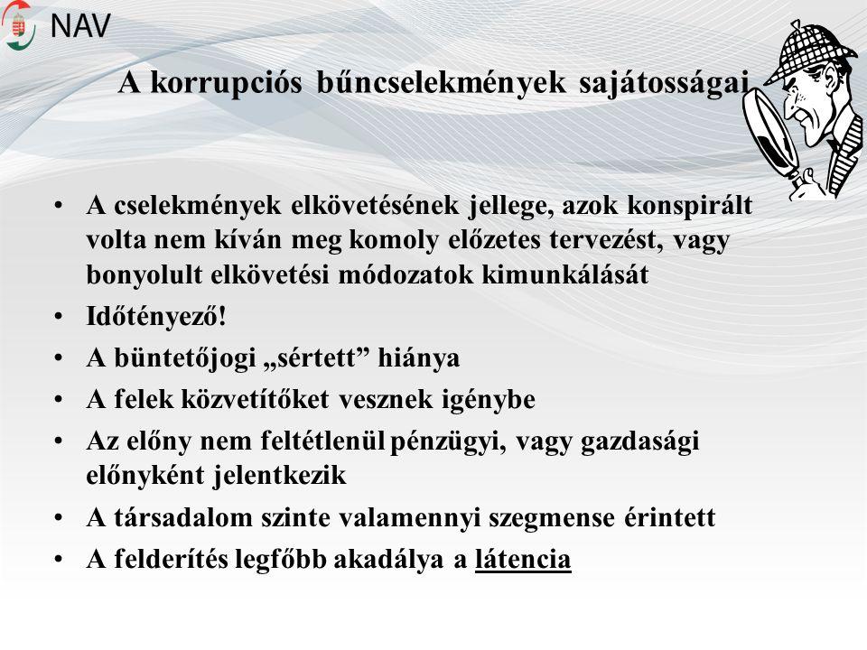 A korrupciós bűncselekmények sajátosságai