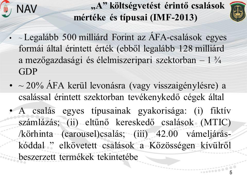 """""""A költségvetést érintő csalások mértéke és típusai (IMF-2013)"""