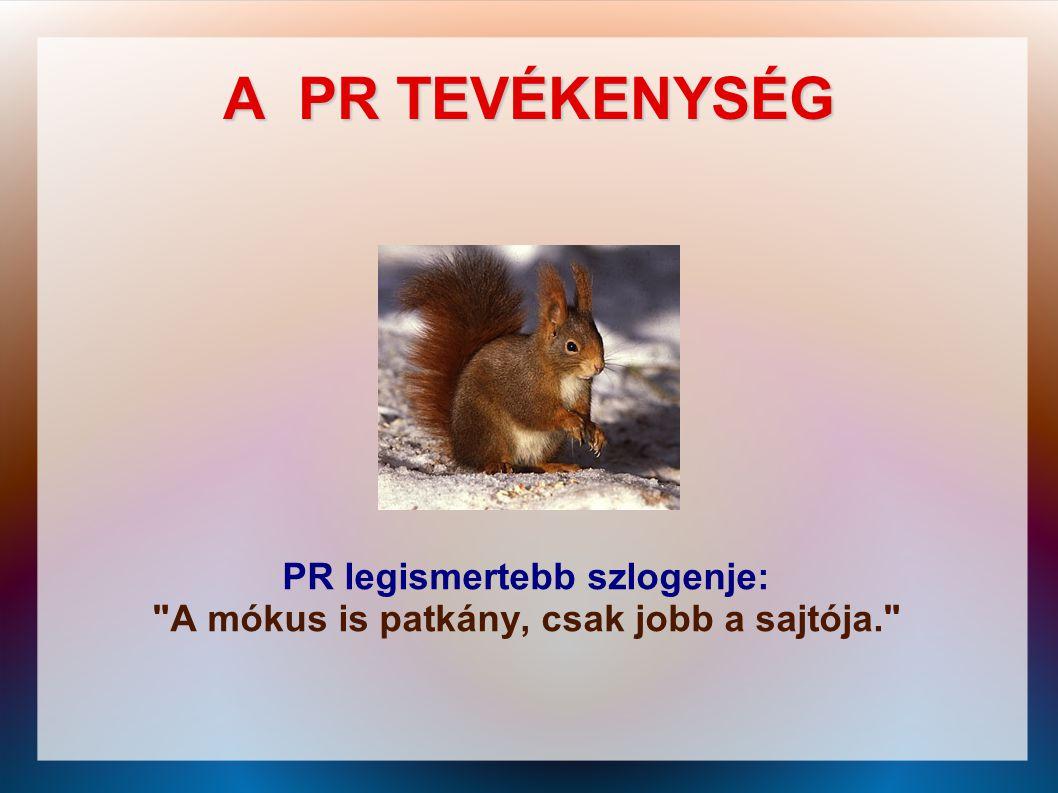 PR legismertebb szlogenje: A mókus is patkány, csak jobb a sajtója.