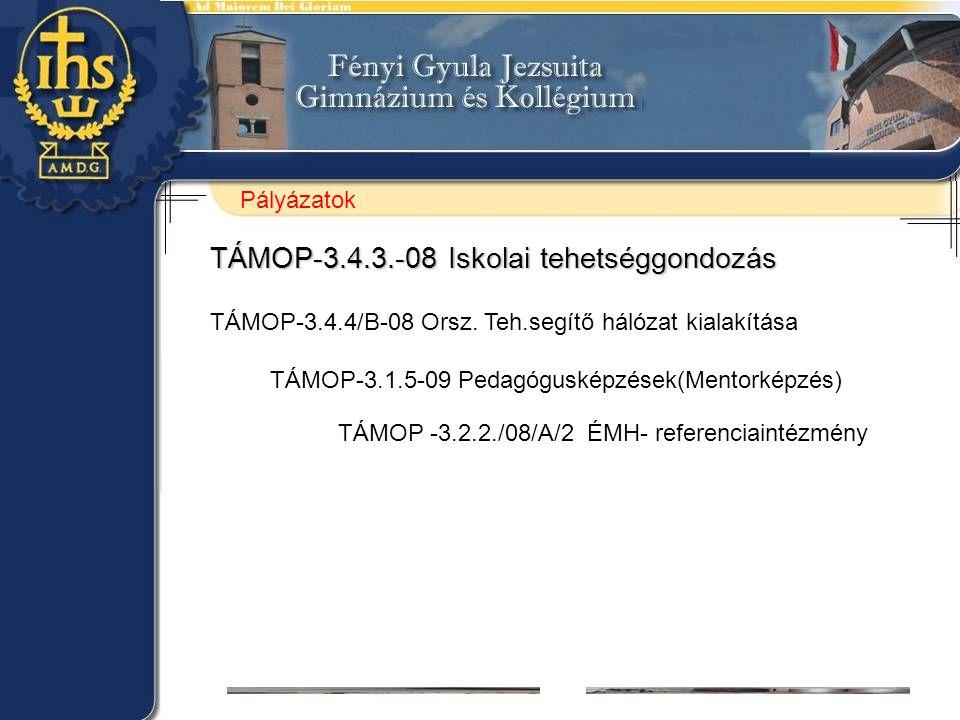 TÁMOP-3.4.3.-08 Iskolai tehetséggondozás