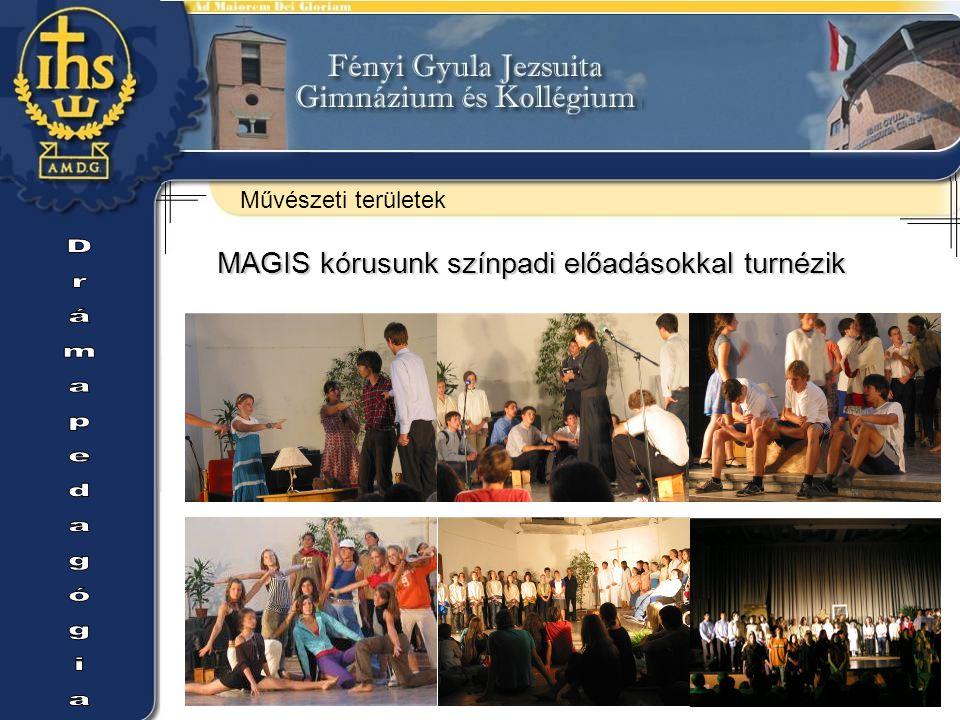 Drámapedagógia MAGIS kórusunk színpadi előadásokkal turnézik