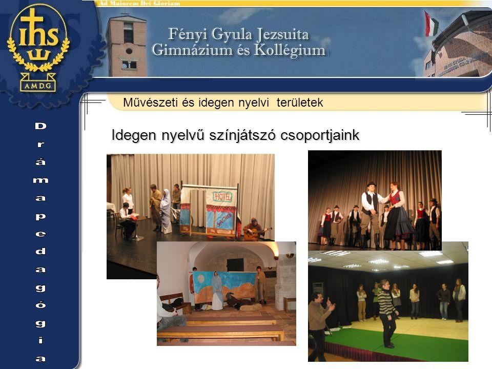 Drámapedagógia Idegen nyelvű színjátszó csoportjaink