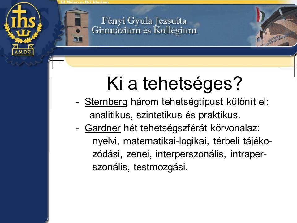 Ki a tehetséges - Sternberg három tehetségtípust különít el: