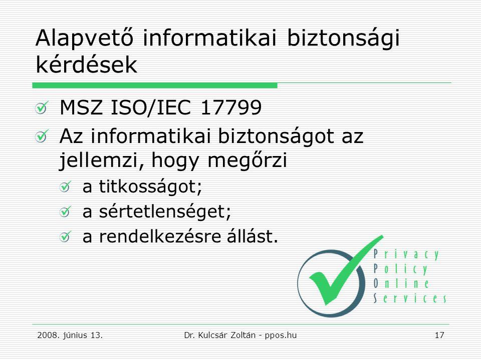 Alapvető informatikai biztonsági kérdések