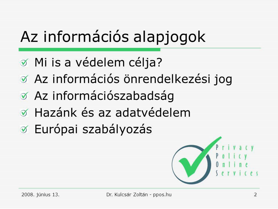 Az információs alapjogok