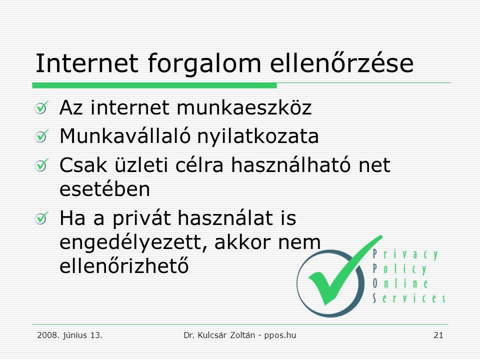 Internet forgalom ellenőrzése