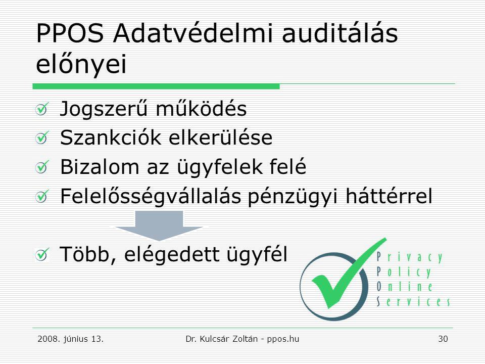 PPOS Adatvédelmi auditálás előnyei